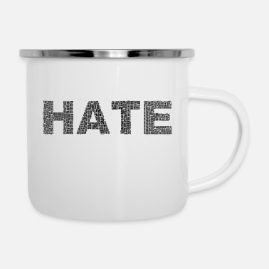 Hater HATE - Emaille-Tasse