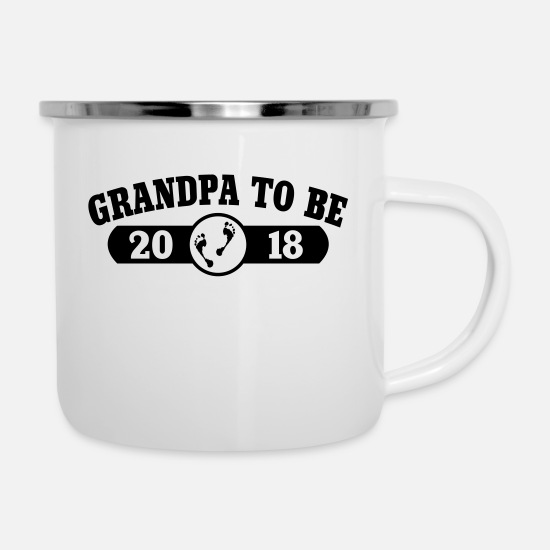 Birthday Mugs & Drinkware - Grandpa To Be 2018 - Enamel Mug white