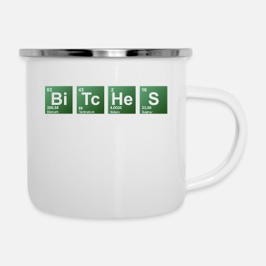 Periodic Bitches periodic table of elements - Enamel Mug
