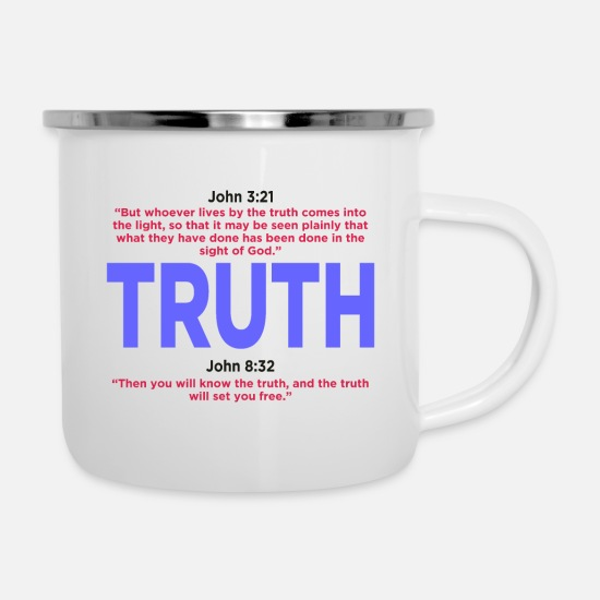 Believe Mugs & Drinkware - TRUTH - Enamel Mug white
