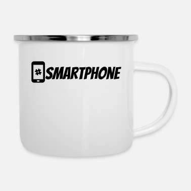 Mobile Telephone #Smartphone Cool Design Mobile Hashtag Cool - Tazza smaltata