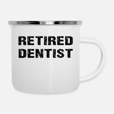 Retirement Retired Dentist Retirement Party Gift Grunge - Enamel Mug