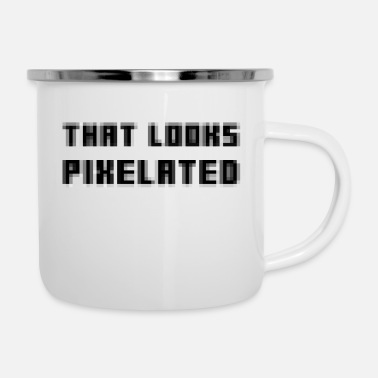 Pixel Pixelated - Enamel Mug