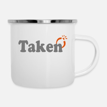 Take Taken - Emaille-Tasse