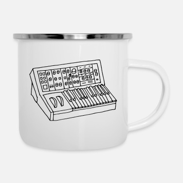 Synthesizer synthesizer - Enamel Mug