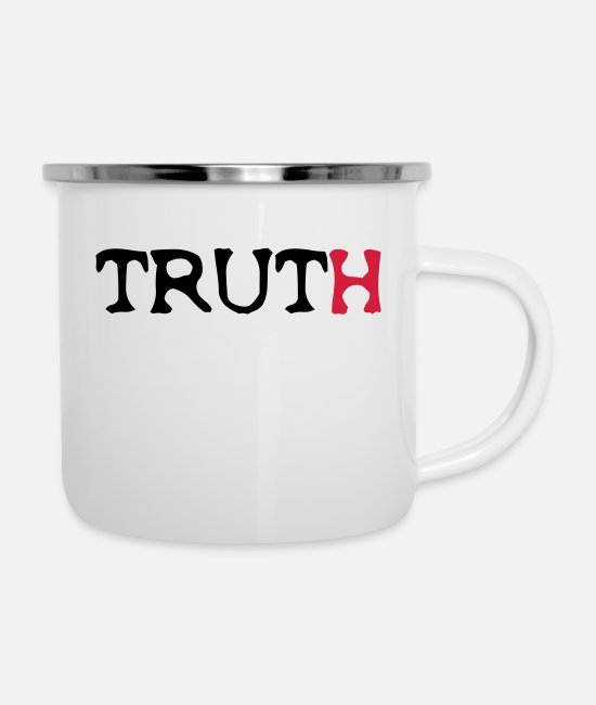 Truth Mugs & Drinkware - Truth - Enamel Mug white
