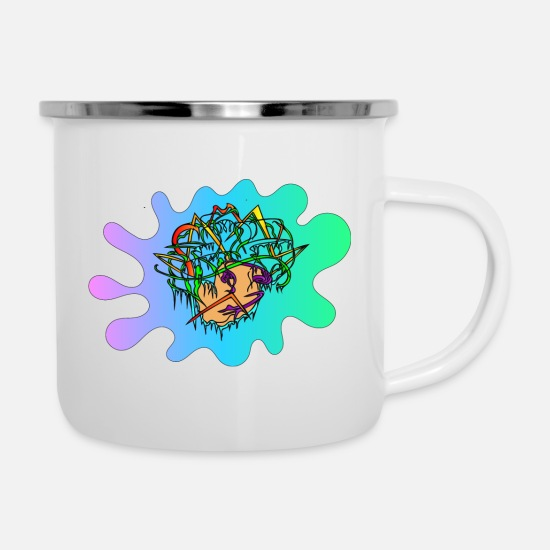 Chaos Mugs & Drinkware - Creative Mind - Enamel Mug white