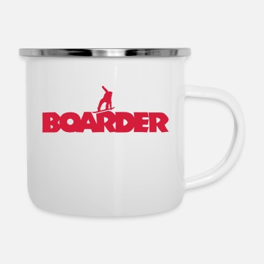 Boarder Boarder Snowboard (Red) - Tazza smaltata