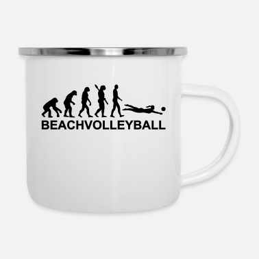 Beachvolleyball Evolution Beachvolleyball - Emaille mok
