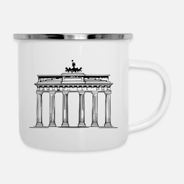 Neighborhood Brandenburg Gate Berlin Victoria chariot - Enamel Mug