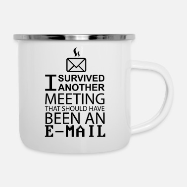 Meeting Meeting Survival - Enamel Mug
