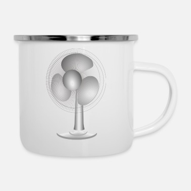 Fan Block fan - Enamel Mug