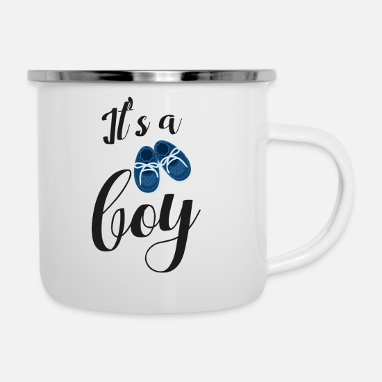 Boy Mugs & Drinkware - It's a boy - Enamel Mug white