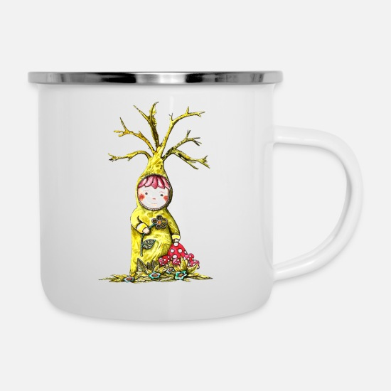 Elf Mugs & Drinkware - Silvio and the elf - Enamel Mug white