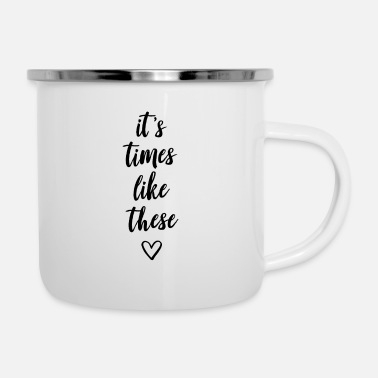 Like It's times like thesis - Enamel Mug