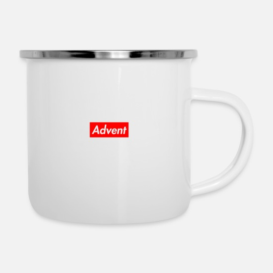 Tea Mugs & Drinkware - Advent - Enamel Mug white