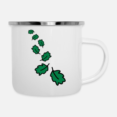 Leaf Leafs - Emaille-Tasse