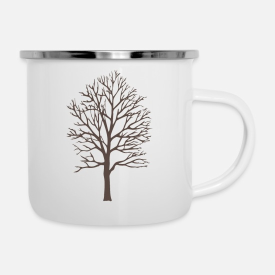 Black Forest Mugs & Drinkware - black forest Black Forest Tree Nature 03 453 - Enamel Mug white