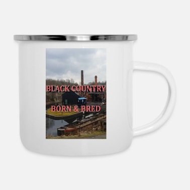Dialect Black Country Born & Bred - Enamel Mug