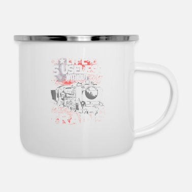 Engine Trains - Life is useless without trains - Enamel Mug