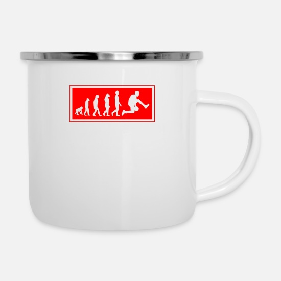 Physical Education Mugs & Drinkware - Sports Sporty Christmas Evolution Basketball - Enamel Mug white