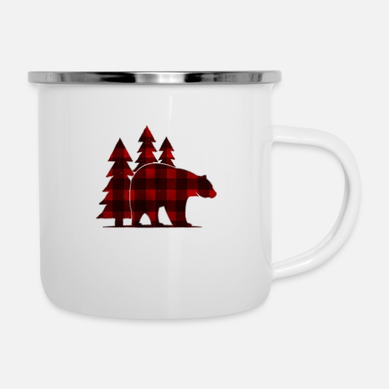 Gift Idea Mugs & Drinkware - Shirt for woodworker Lumberjack as a gift - Enamel Mug white