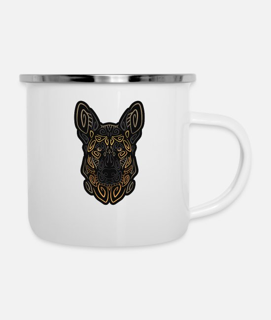 Dog Owner Mugs & Drinkware - German Shepherd Dog Pet Gift Dogs - Enamel Mug white