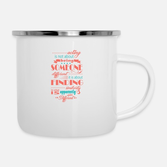 Actress Mugs & Drinkware - Audition performance casting actress - Enamel Mug white