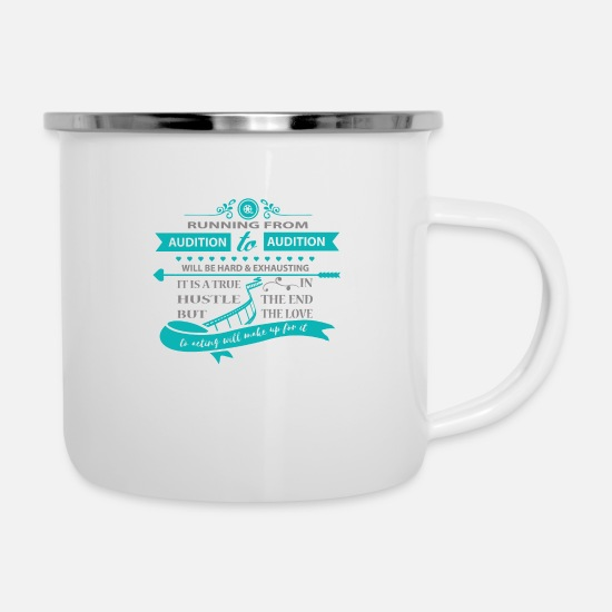 Casting Mugs & Drinkware - Audition Actress Casting - Enamel Mug white