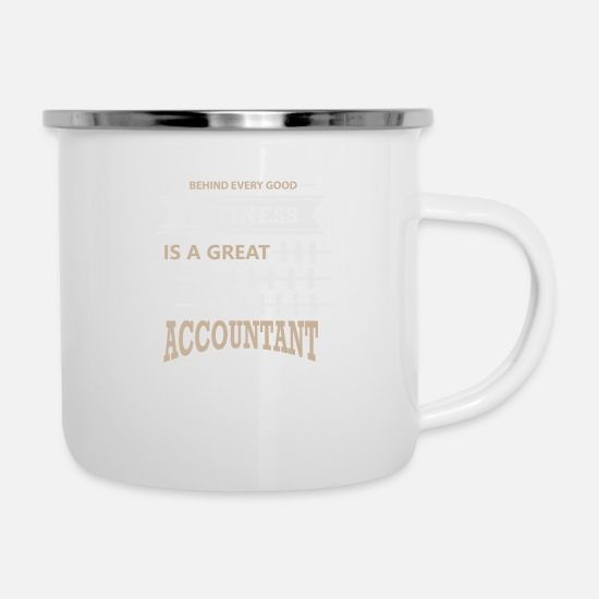 Accounting Mugs & Drinkware - Accountant accountant - Enamel Mug white