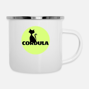 First Name Cordula Name First name - Enamel Mug