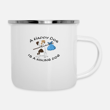 Dogowner Hiking Dogowner Dog Backpacker Nature Pet Love - Enamel Mug