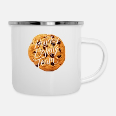 Christmas baking biscuits cookies gift advent - Enamel Mug