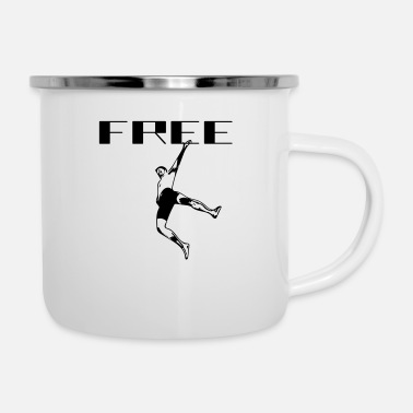 Free FREE - Emaille-Tasse