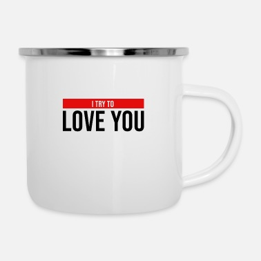 Cupidon i try to love you relation - Mug émaillé