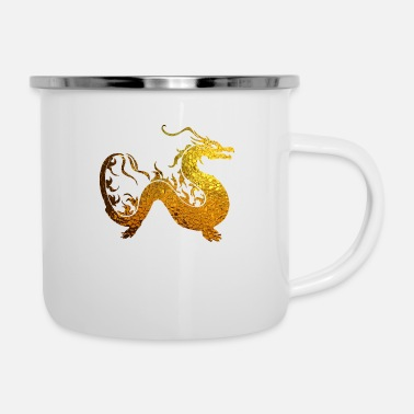 Golden Dragon Golden Dragon - Enamel Mug