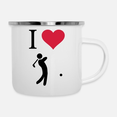 Golf I love golf - Enamel Mug