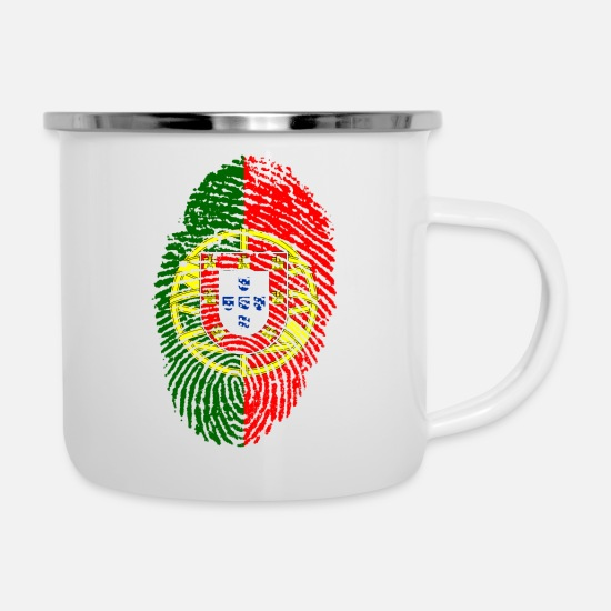 Portugal Mugs & Drinkware - Fingerprint - Portugal - Enamel Mug white