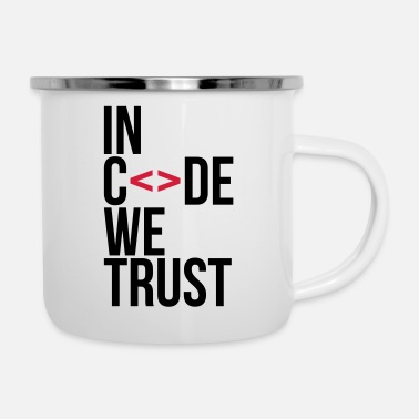 We in code we trust ! - Mug émaillé