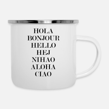Greeting greetings - Enamel Mug