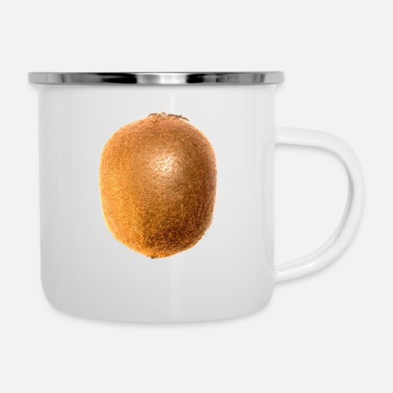Bless You Mugs & Drinkware - kiwi fruits fruit fruit fruit veggie vegetarian - Enamel Mug white