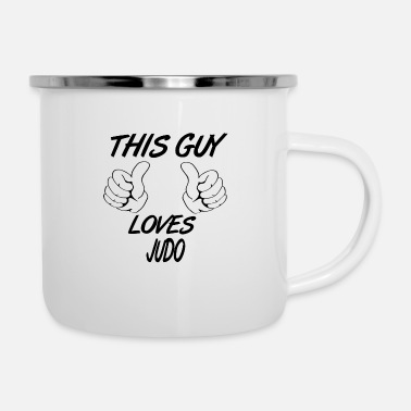 This Guy Loves JUDO - Enamel Mug