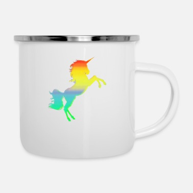 Collections Buntes Einhorn - Emaille-Tasse