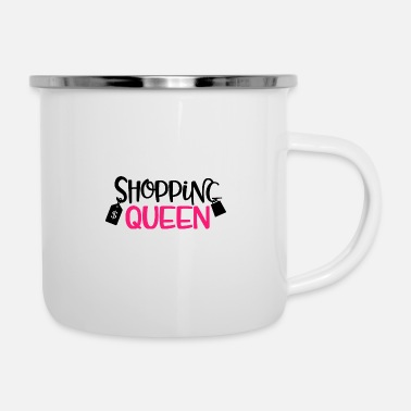 Shopping Shopping Queen Gift Shopping Shopping - Tazza smaltata