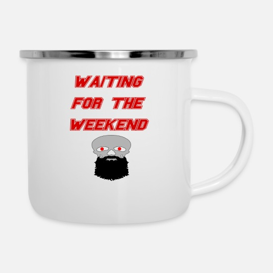 The Office Mugs & Drinkware - waiting for the weekend - Enamel Mug white