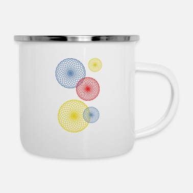 Air Bubbles Abstract colored bubbles and bubbles - Enamel Mug