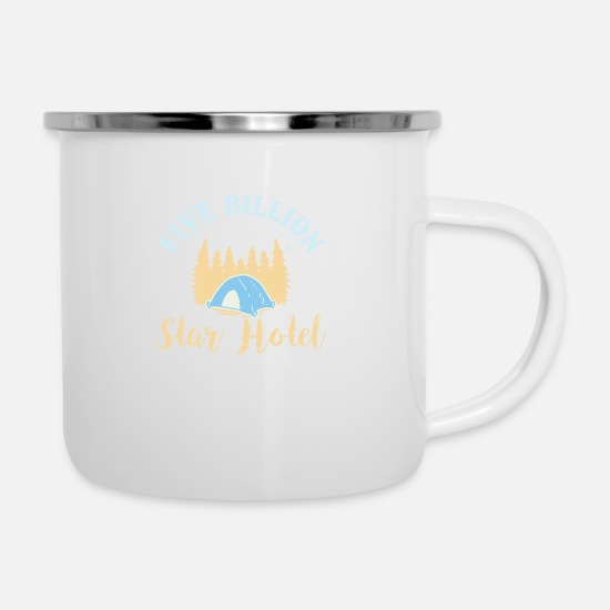 Tent Mugs & Drinkware - Camping holiday tents recreation gift - Enamel Mug white