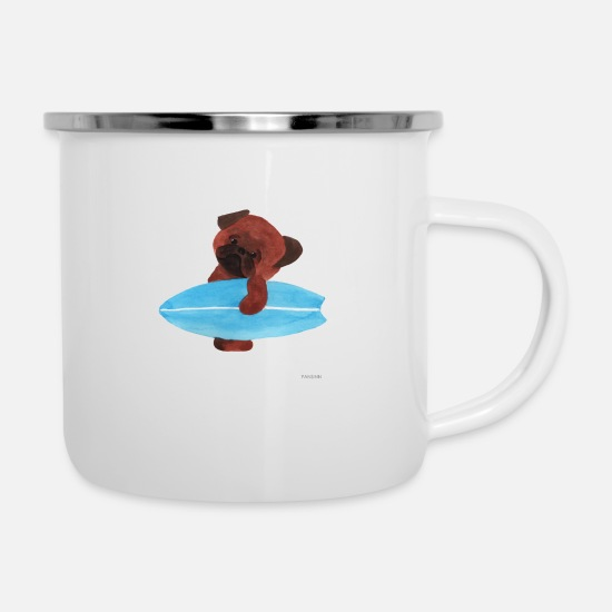 Stand Mugs & Drinkware - SUP Stand Up Paddling Gift Sport Dog Water - Enamel Mug white