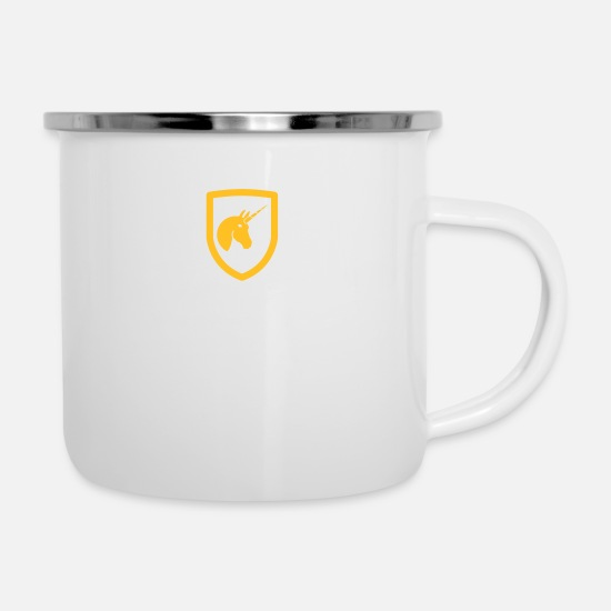 Shield Mugs & Drinkware - Federal Unicorn - Enamel Mug white