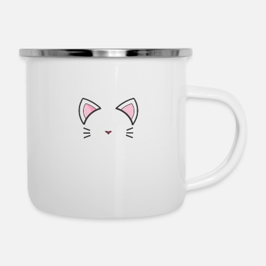 Schoon cat cute face - Emaille mok